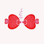 Resumen corazones de San Valentín para los amantes — Vector de stock
