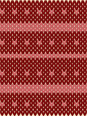 Repeated knitted pattern with horizontal stripes of color — Stockvector
