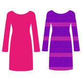 Schöne Kleider für Frauen — Stockvektor