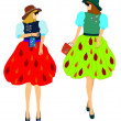 Fashion clothing for girls — Stock Vector #70635263
