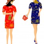 Fashion dresses for girls — Stock Vector #71632453