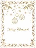Frame for congratulations on Christmas — Stock Vector