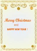 Christmas frame with balls — Stock Vector