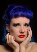 Alternative Female Beauty Portrait — Stock Photo