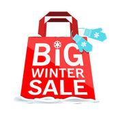 Vector. Big winter sale. — Stock Vector