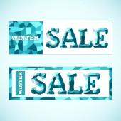 Vector. Winter sale. — Vector de stock