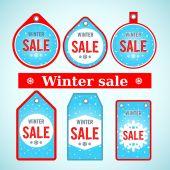 Vector. Winter sale. — Stockvektor
