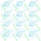 Oceanic seamless pattern — Stock Vector
