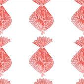 Watercolor ornamental fish pattern. — Stock Vector