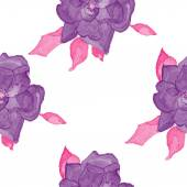 Watercolor rosehip seamless pattern — Stock Vector