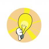 Bad idea lamp icon — Stock Vector