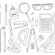 Set of stationery tools — Stock Vector #61622697