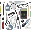 Set of stationery tools — Stock Vector #61622711