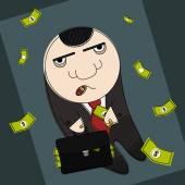 Corrupt politician  illustration — Stock Vector