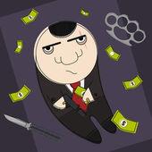 Dangerous mafia hitman — Stock Vector