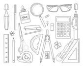 Set of stationery tools — Stock Vector