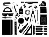 Stationery tools set — Stock Vector