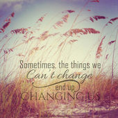Inspirational Typographic Quote - sometimes the things we cannot — Stok fotoğraf