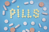 Painkillers, tablets, generic pills — Stock Photo