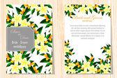 Set of invitations cards — 图库矢量图片