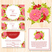 Set of invitations cards — Stockvector