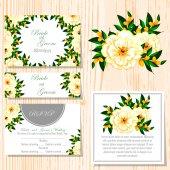Set of invitations cards — Vettoriale Stock