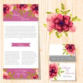 Set of invitations cards — Stock Vector
