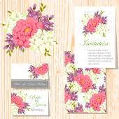 Set of invitations cards — Stock vektor