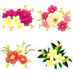 Reihe von verschiedenen Blumen — Stockvektor  #60923235
