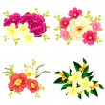 conjunto de flores diferentes — Vetor de Stock  #60923235