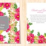Wedding invitation cards — Stock Vector #60924129