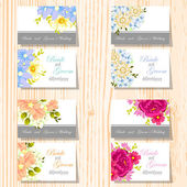 Set of invitations cards — Vector de stock