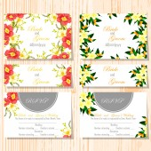 Set of invitations cards — Vecteur