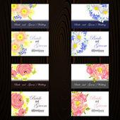 Set of invitations cards — Stockvector