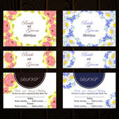 Set of invitations cards — Vettoriale Stock