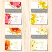 Bruiloft uitnodigingskaarten — Stockvector