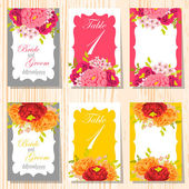 Wedding invitation cards — Stock vektor