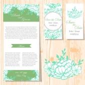 Wedding invitation cards — Stock vektor