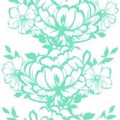 Monochrome floral element — Stock Vector