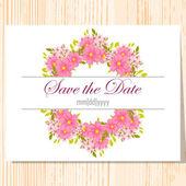 Wedding invitation card — Cтоковый вектор