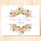 Hochzeitseinladungskarte — Stockvektor