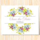 Wedding invitation card — Vettoriale Stock