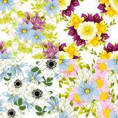 Floral seamless pattern — Cтоковый вектор