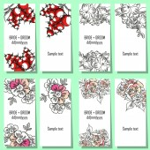 Set of floral invitations — Stock vektor