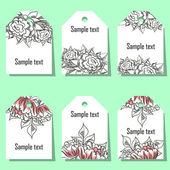 Set of floral labels — Stock vektor
