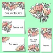 Flower background cards — Vector de stock