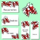 Berries background cards — Stock Vector