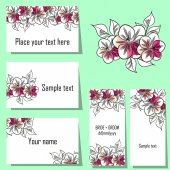 Flower background cards — Vettoriale Stock