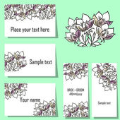 Flower background cards — Stock Vector
