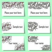 Flower background cards — Stockvector